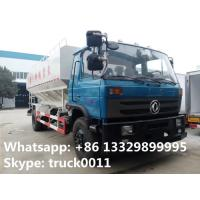 Quality hot sale dongfeng brand LHD 190hp hydraulic system discharging lickstock fish feed delivery truck, feed delivery truck for sale