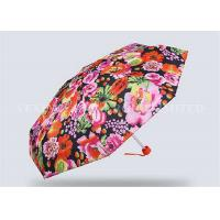 Creative Totes Micro Mini Umbrella , Small Purse Size Umbrella Flower Number Printing Manufactures