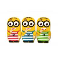 Quality Yellow 3D Silicon Cell Phone Protective Cases With Despicable Me Minion Design for sale