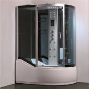 Single Glass Shower Cabin Shower Steam Room Enclosures With Slide Bar Tub Manufactures