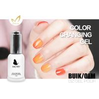 Flavorless 72 Colors Mood Changing Gel Nail Polish Breathable 15ml / Bottle Manufactures