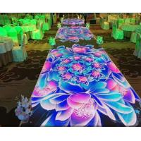 Night Club Indoor LED Displays Sunrise Stage , full color dance floor led display Manufactures