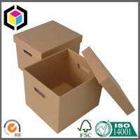 Plain Brown B Flute Single Wall Corrugated Cardboard Packaging Box for Storage Manufactures