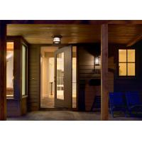 Outside Big Entry Solid Wood Entrance Doors Swing Pivot For Hotel Office Manufactures