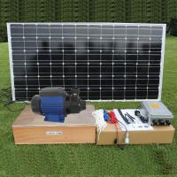 China DC brushless Surface Solar Pond Pump , Solar Powered Water Pump For Fountain and House Use on sale