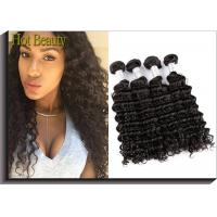 Unprocessed 100 Virgin Human Hair Extensions Peruvian Deep Wave Hair Manufactures