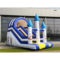 Small Single Lane Commercial Inflatable Slide With Castle Theme For Amusement Park Manufactures