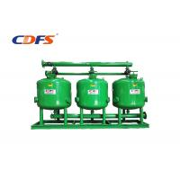 DP / Time Control Irrigation Sand Filter 30 - 400 M³ / H Flow Rate Automatic Manufactures