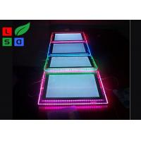 Quality Portrait View LED Crystal Light Box RGB Color Background With Cable System for sale