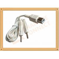 Square Plug Tens Unit Cables To 2 Pin Y Type Medial Tens EMS Heating Cable for monitor Manufactures