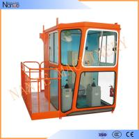 Red 1.1m / 1.4m Width Overhead Crane Cabin For Operator Cab Manufactures