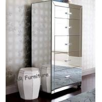 60 Inches High Mirrored Side Board Chest Stable Structure Reliable Material Manufactures