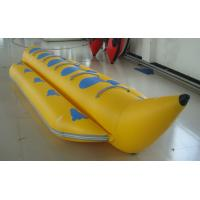 Yellow PVC Single Tube Inflatable Banana Boat For Water Sports Manufactures