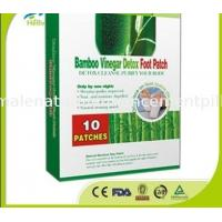 China Herbal Bamboo Vinegar Detox Foot Patch 10 pieces/box privet label OEM on sale