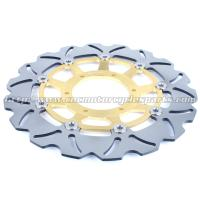 310mm Motorcycle Brake Disc Rotors Laser Logo With Gold / Black Color Manufactures