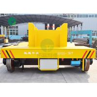 75 Ton Anti-High Temperature Rail Guided Cast Iron Ladle Transfer Car With V-Groove Deck Manufactures