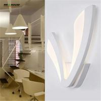 Modern led wall lights for bedroom study room lamparas de pared Stainless steel+Acrylic 9W home decoration wall lamp fre Manufactures