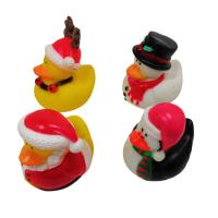 Christmas Yellow Rubber Ducks Baby Tub Toys Cute Deer / Penguin Pattern Manufactures