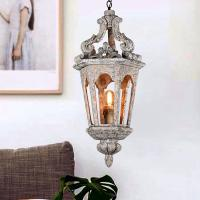 Buy cheap Small Wood lantern hanging chandelier light fixtures (WH-CI-63) from wholesalers