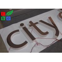 Quality Mirror Polished LED Channel Letter Signs Epistar LED Chip Customized Design for sale