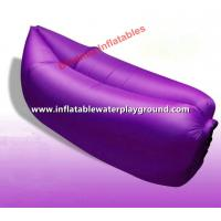 Quality 1.4kg Weight Portable Sleeping Air Bag Lazy Couch Bed With Purple Nylon Fabric for sale