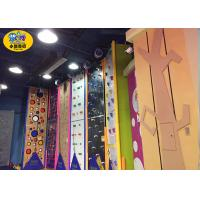 Commercial Indoor Kids Rock Climbing Wall High Strength Steel Frame And Plate Manufactures