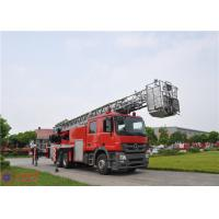6x4 Drive Aerial Ladder Fire Truck Short Adjustment Time 30.7 Meters Max Height Manufactures