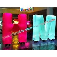 Customized 1.5m Inflatable Lighting Decoration Letter Nylon For Shop