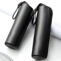 Black PU Leather Champagne Bottle Sleeves With Strap Manufactures