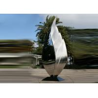 Park Art Decoration Polished Metal Leaf Sculpture Stainless Steel Corrosion Stability Manufactures