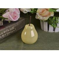 Pearl Glazed Ceramic Pear Dining Kitchen Room Table Centerpiece Fruit Decoration Manufactures