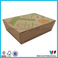 China Standard Size Brown Kraft Paper Food Packing Boxes Support debossed / stamping on sale