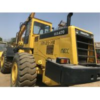 260.2HP Komatsu WA470 Second Hand Wheel Loaders , Used Compact Track Loaders Manufactures
