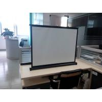 China Portable Motorized 40 Projection Screens Fabric , Hd Projector Screen on sale
