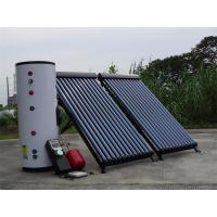China Split solar water heating system with heat pipe solar collectors, storage tank , solar pump station and expansion vessel on sale