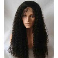 Black Long Natural Wave 18 remy human hair full lace wigs Tangle Free Manufactures