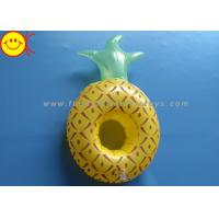 Quality Pineapple Inflatable Pool Floats / Pool Toy Drink Holder 0.15mm Thickness for sale