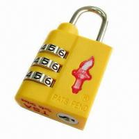 Combination ABS TSA Luggage Locks, Lightweight, 3 Dial (Safe Skies Branded) Manufactures