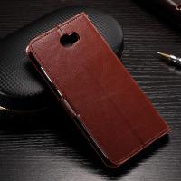 Flexible Huawei Y6 Leather Case , Anti - Slip Crazy Horse Leather Wallet Case Manufactures