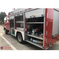 Strobe Lights 2000L Water Pumper Tanker Fire Trucks With 2+3 Seat Manufactures