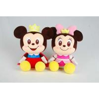 Quality Mickey and Minnie Disney Plush Toys With Foam Particle Material / Nanoparticles for sale