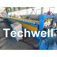 PLC Control System Steel Deck Roll Forming Machine With 24 Forming Stations Manufactures