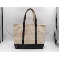 Beige Canvas Washable Tote Bag, Personalized Canvas Tote Bags 32*29.5*13.5 Cm Manufactures