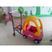 95L Children / Kids Shopping Carts With Rear Basket And 4 Swivel Flat Caster SGS CE Manufactures
