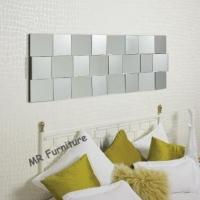 Quality Faceted Angled Modern Wall Mirrors Decorative For Bedroom / Dining Room for sale