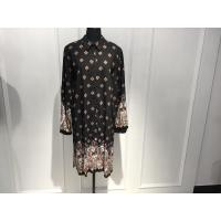 Shirt Collar Womens Wrap Dresses Loose Fitting With Positioning Print Manufactures