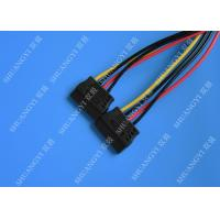 Quality IDE Flat Cable Harness Assembly 4 Pin to 2 x 15 Pin SATA To Serial ATA SATA Connector for sale