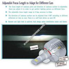 Bright H3 Auto LED Headlight Bulbs 1300LM , Focus Length Adjustable Manufactures