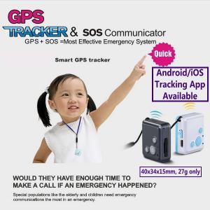 Mini GSM GPS Tracker Child Kids Elderly SOS Emergent Help Communicator Sender W/ Microphone Speaker for 2-Way Phone Talk Manufactures