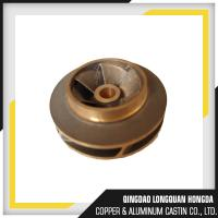 Size Customized Brass Machined Parts , Water Pump Brass Impeller For Boats Manufactures